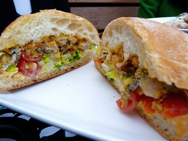 Fried Oyster Po Boy Sandwhich | Flickr - Photo Sharing!