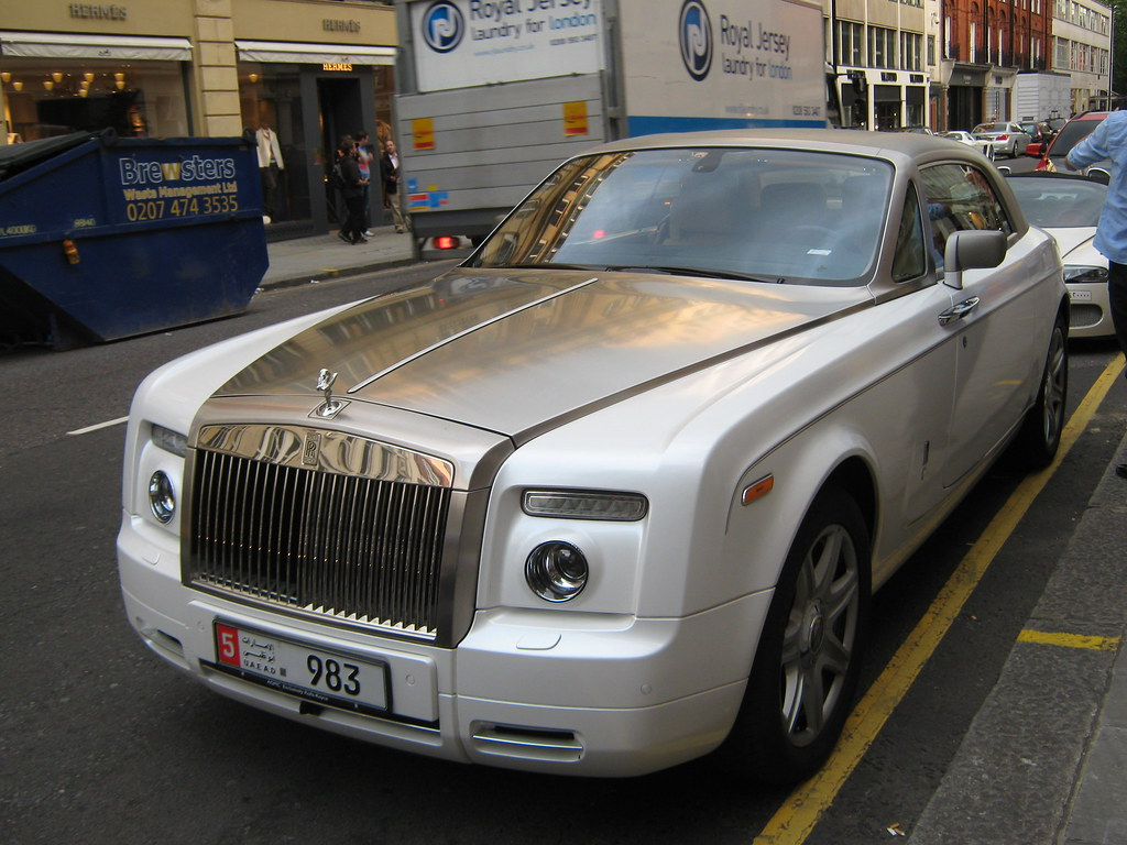 All sizes rolls royce phantom coupe white with chrome bonnet flickr photo sharing