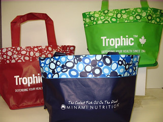 Trophic & Minami Nutrition mini totes | by Muldoon Marketing