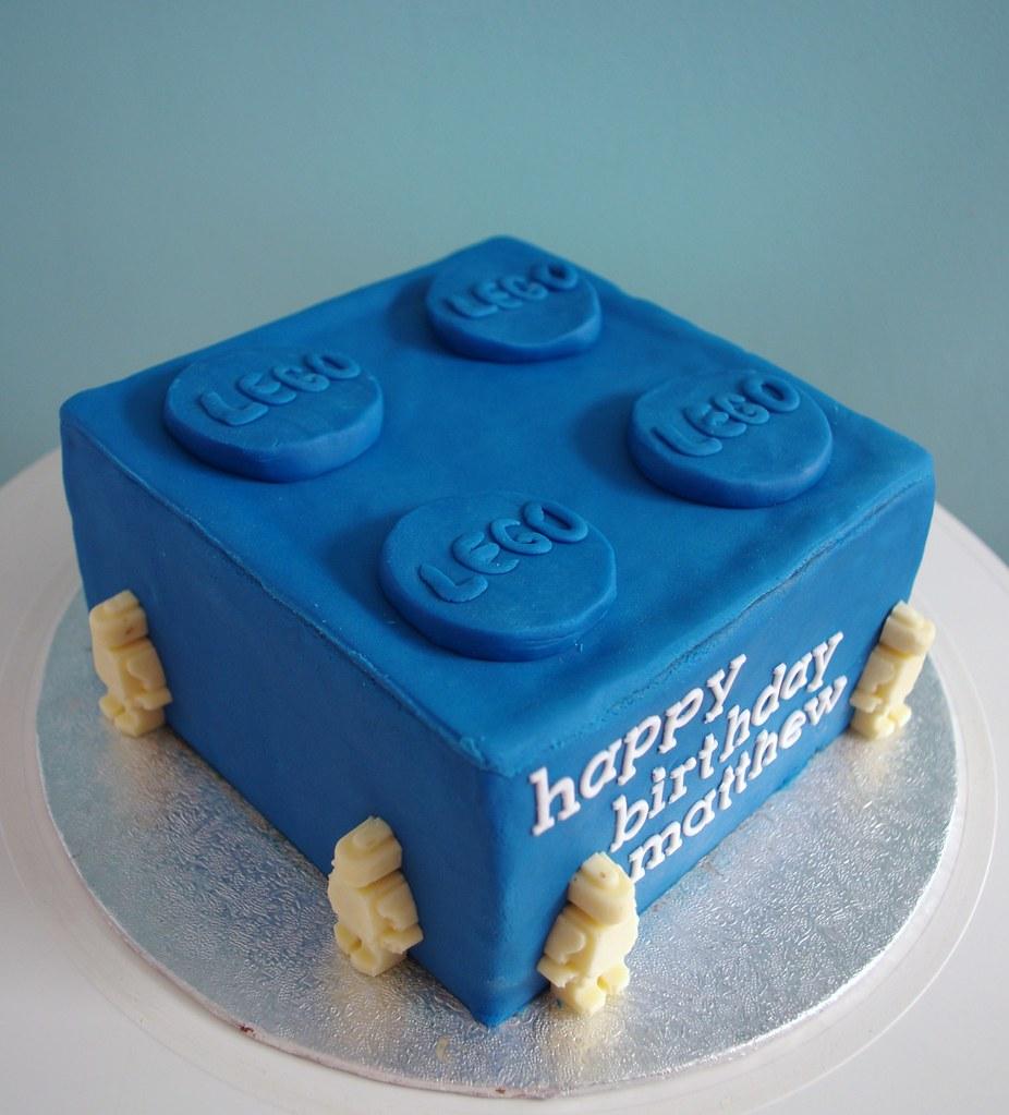 lego brick birthday cake | Nicola | Flickr