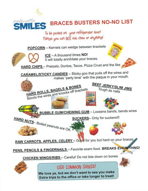 Food For Braces List