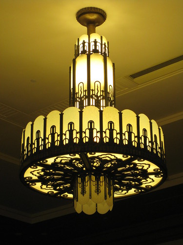Art deco chandelier myer emporium mural hall bourke str for Mural lighting