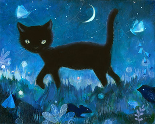 night cat | by Annie Patterson