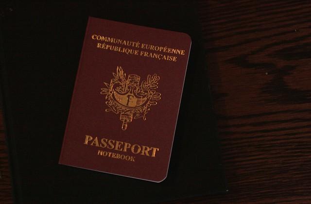French Passport Notebook.