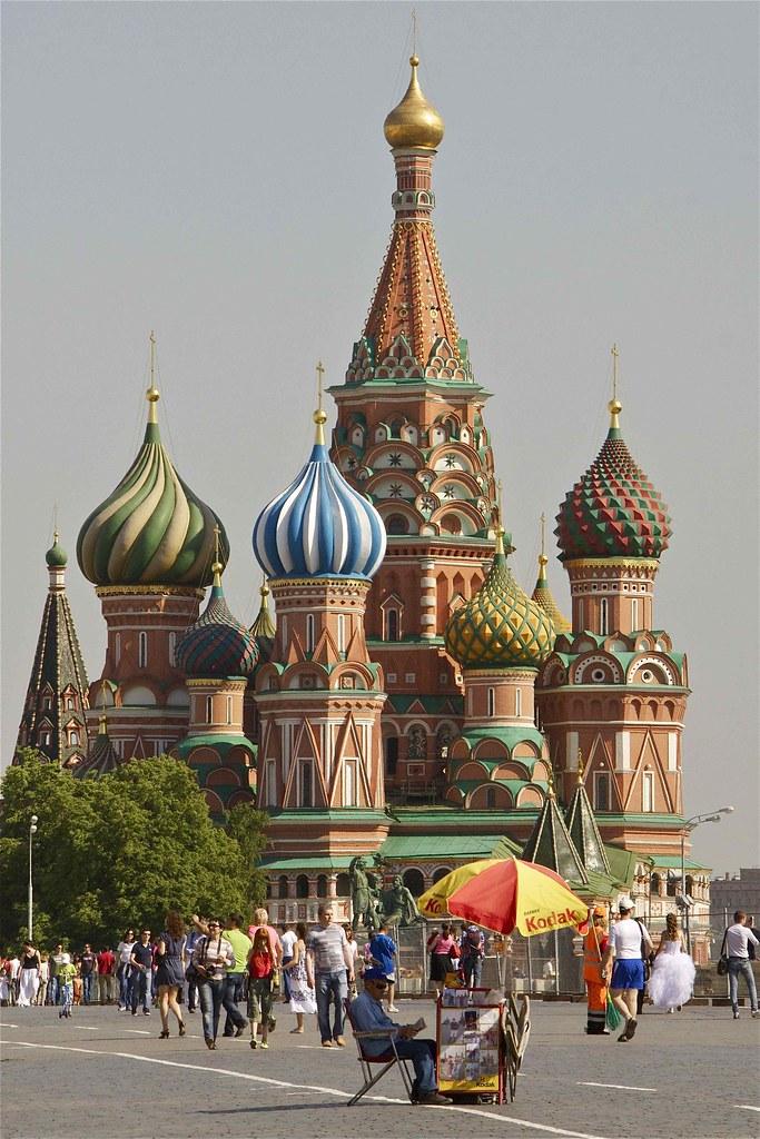 Moskou Het Rode Plein Basiliuskathedraal De