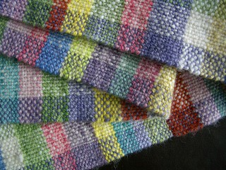 Multi-colour woven scarf close Aug 11 | by stitchwort64