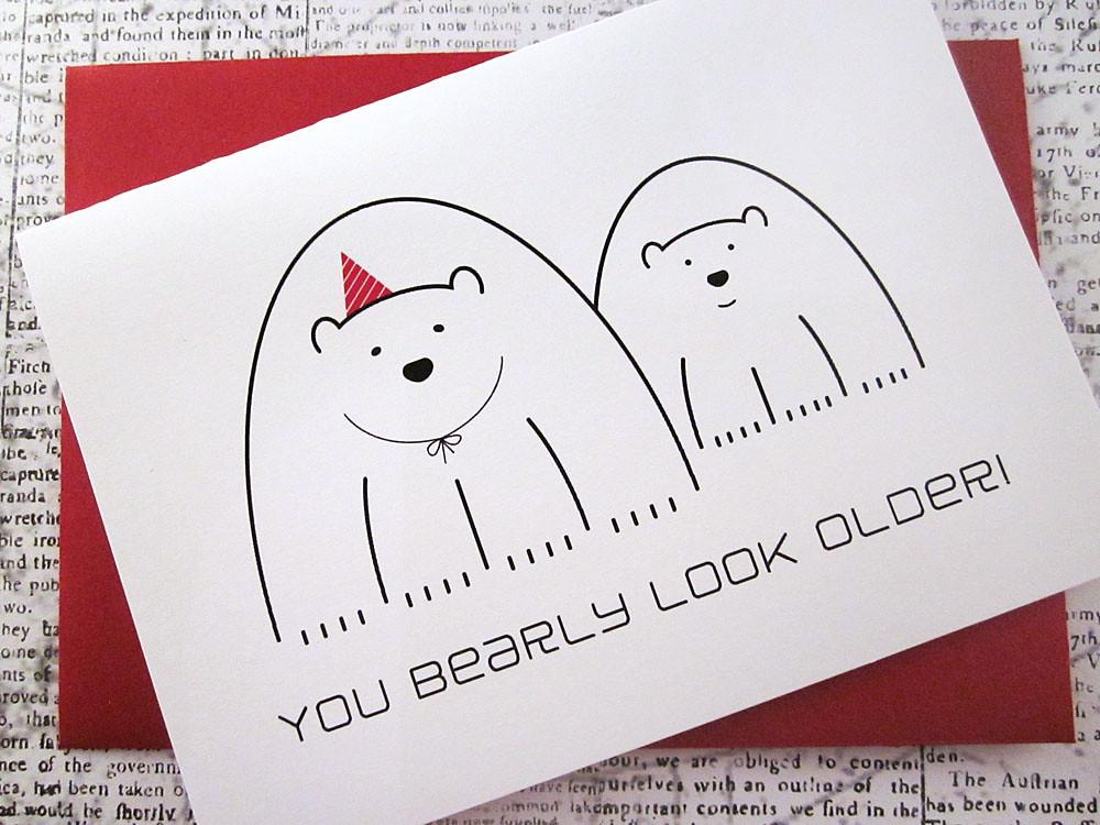 Polar Bear Birthday Greeting Card Anita – Birthday Card Bear