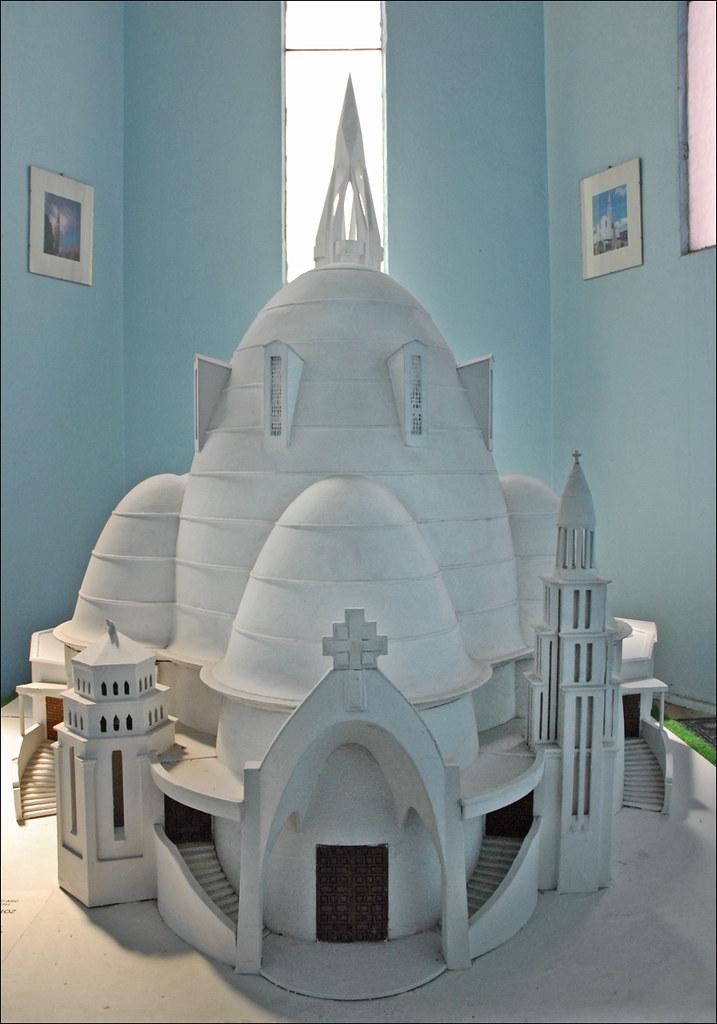 Maquette de l 39 glise sainte jeanne d 39 arc nice cette for Architecte 3d wikipedia