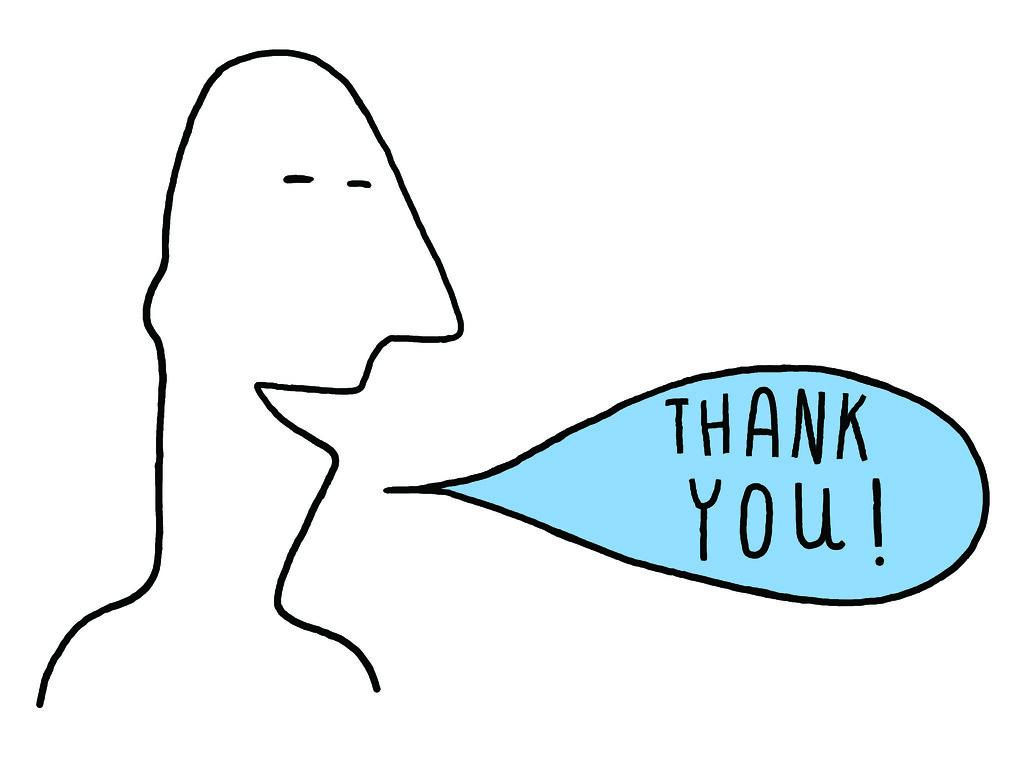 Line Art Thank You : Thank you speech bubble kath walker illustration flickr