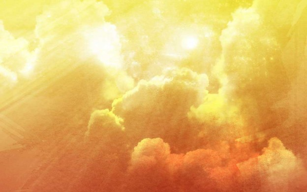 free abstract cloudy sky gradient saffron background