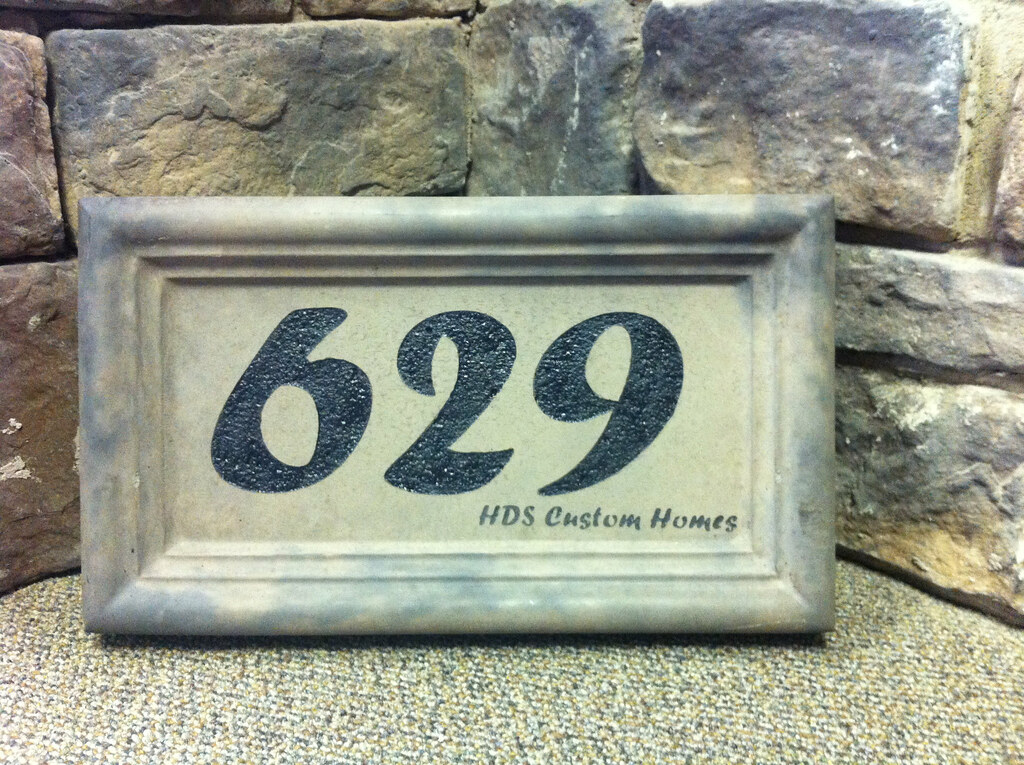 Kodiak Mountain Stone House Address Number Plaque