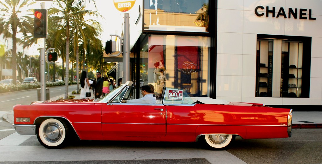 ( 1966 ) RED CADILLAC deVille ~ for sale