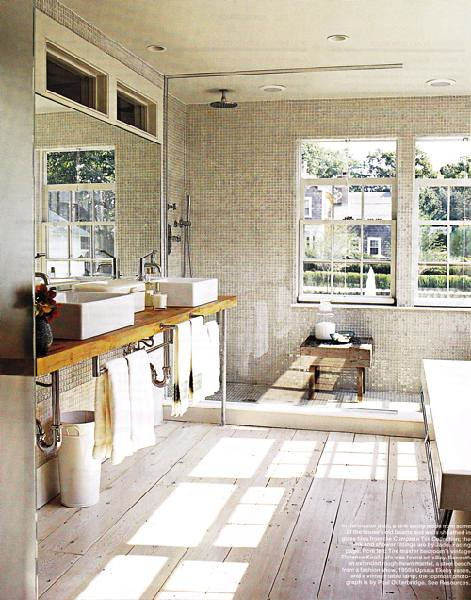 Via decor pad off white rustic modern bathroom flickr for Bathroom ideas rustic modern
