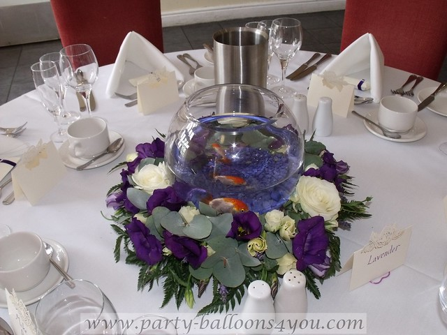 Wedding gold fish for hire flickr photo sharing for Fish table app