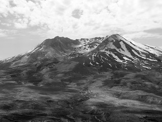 Mount St. Helens in b&w | by tbirdshockeyfan