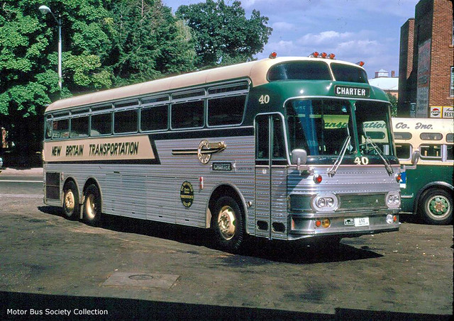 Nbt 40 silver eagle 01 in garage flickr photo sharing Silver eagle motor coach