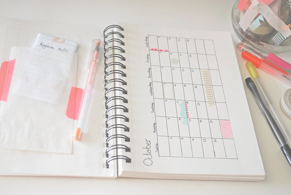 Diy Notebook Calendar : Diy planner ged jordan e clark flickr