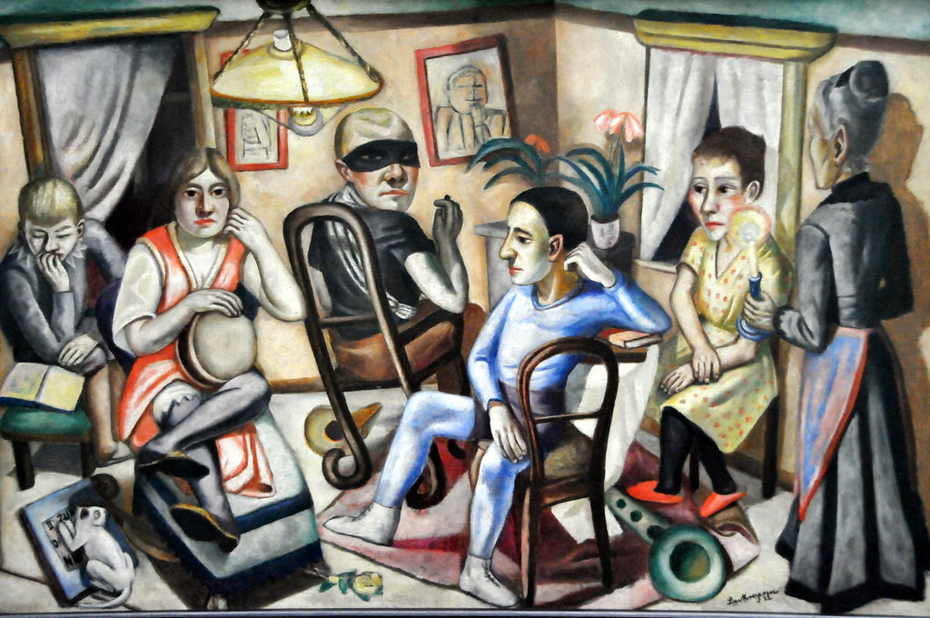max beckmann vor dem maskenball 1922 at pinakothek der flickr. Black Bedroom Furniture Sets. Home Design Ideas