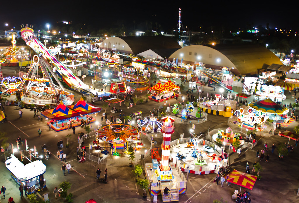 Ventura County Fair The View Of The Arcade From The