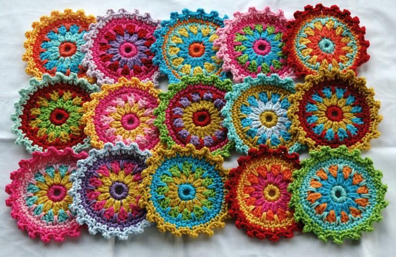 Crochet Embellishmentscoasters Anniedesign Flickr