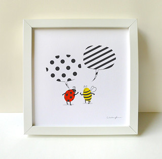 Polka Dots vs Stripes - Print | by ILoveDoodle