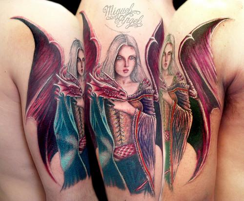 anne stokes tattoo miguel angel custom tattoo artist www flickr. Black Bedroom Furniture Sets. Home Design Ideas