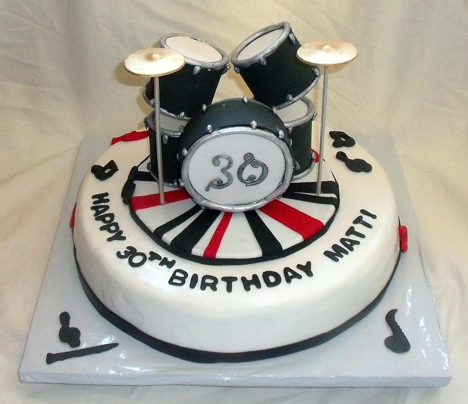 Cake Decorating Drum Kit : Edible Drum Set on Music Themed Fondant Birthday Cake Flickr