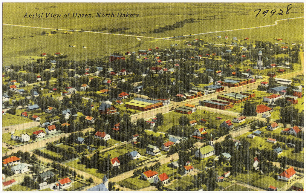Aerial view of Hazen, North Dakota | File name: 06_10 ...