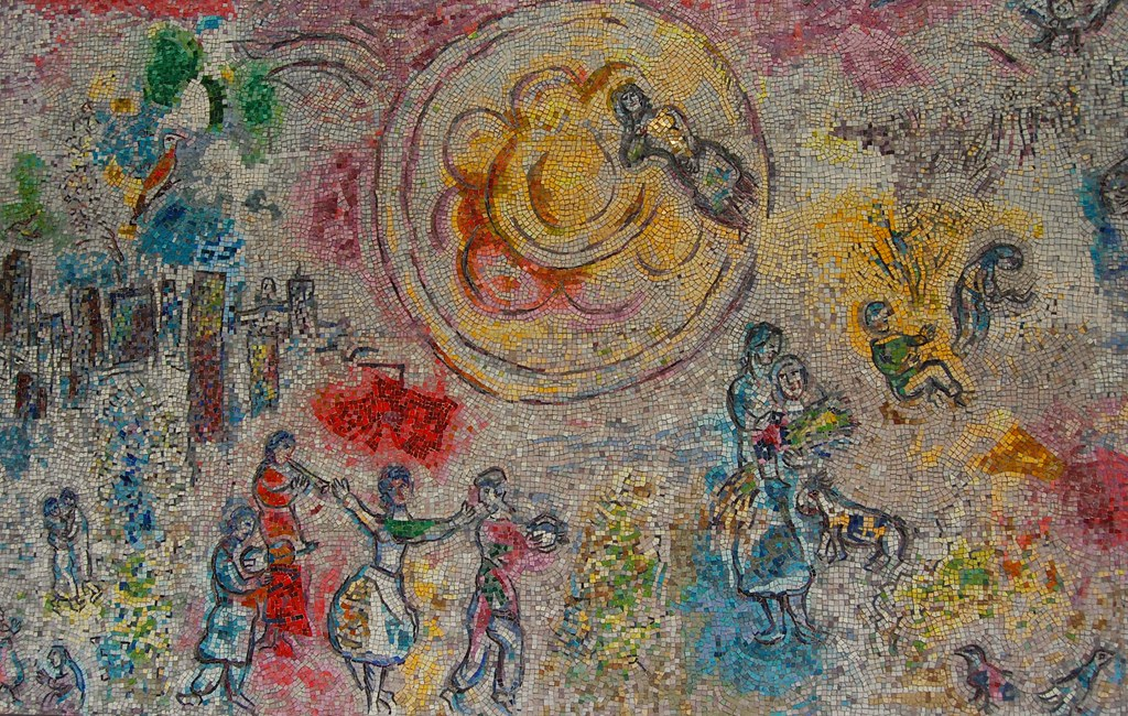 Detail From Marc Chagall S Four Seasons Mosaic In Chicago