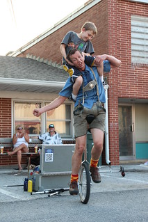 Hilby on the unicycle with a friend | by DelawareStateFair