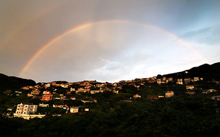 Rainbows in Jiufen. | by Carlos Nizam