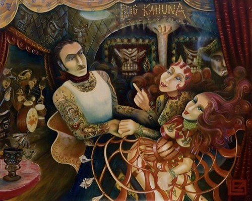 The Big Kahuna, 60'x48' oil on canvas 1999 - Private Collection | by Leavendetttanow