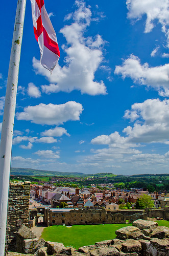 Ludlow from Ludlow Castle (1 of 1). By Thomas Tolkien | by Thomas Tolkien