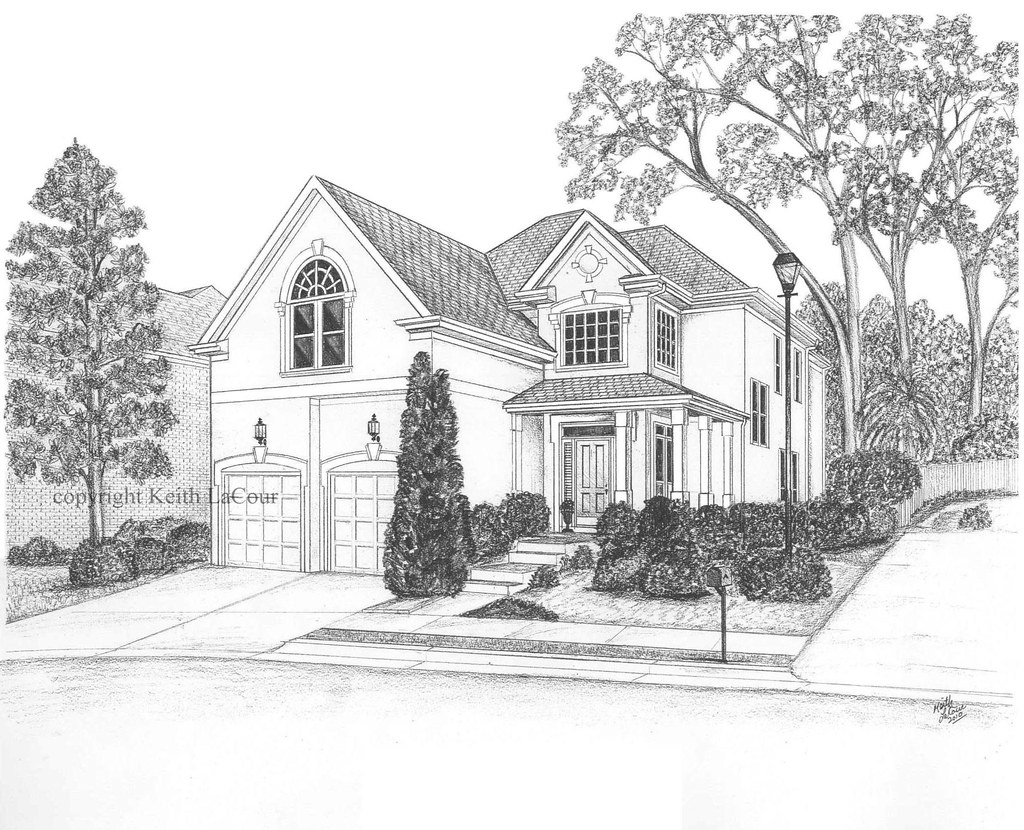 Line Drawing Of Your House : House pencil drawing by keith lacour