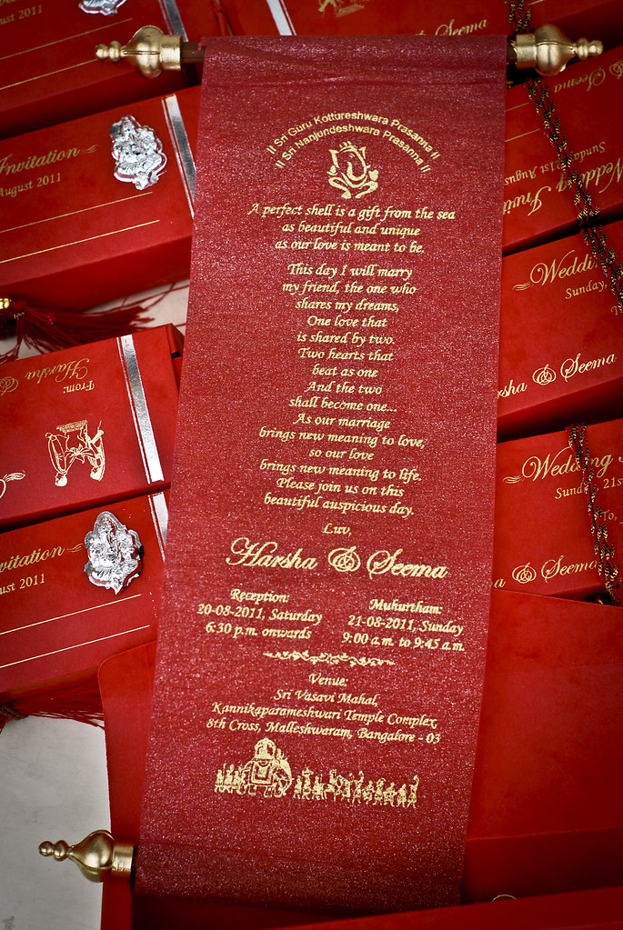 My wedding invitations harsha k r flickr my wedding invitations by mynameisharsha my wedding invitations by mynameisharsha stopboris Gallery