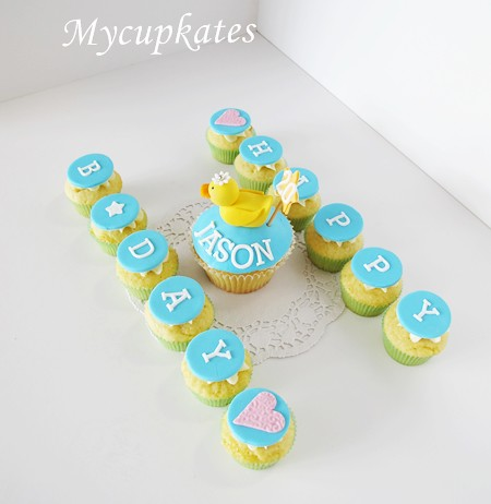 happy birthday message cupcakes by mycupkates
