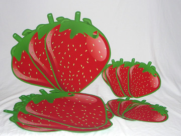 24 Inch And 12 Strawberry Shortcake Strawberries Party Dec