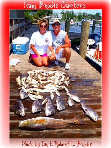 INSHORE & BAY LIGHT TACKLE FISHING IN BILOXI MISSISSIPPI - Stacie & Jeff Clark - Photo by Capt. Robert L. Brodie | by teambrodiecharters