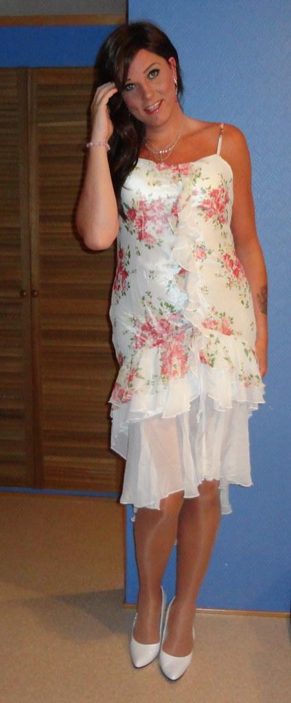 Summery Dress Being A Brunette Again Monika Tgirl