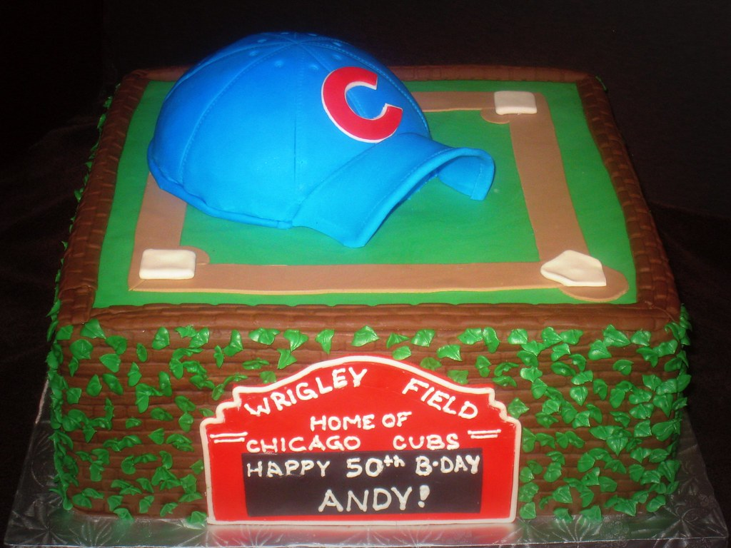 Chicago Cubs Cake This Cake Pays Tribute To The Chicago Cu Flickr