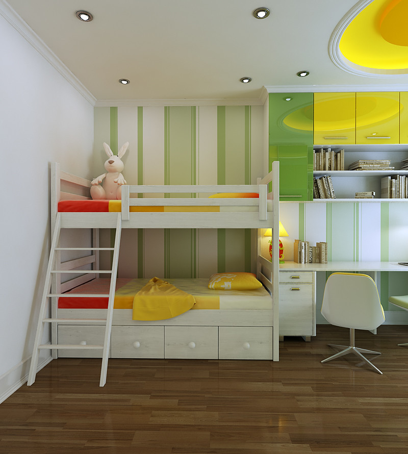 Yellow Kids Room: Landon Homes : Home Building Trends