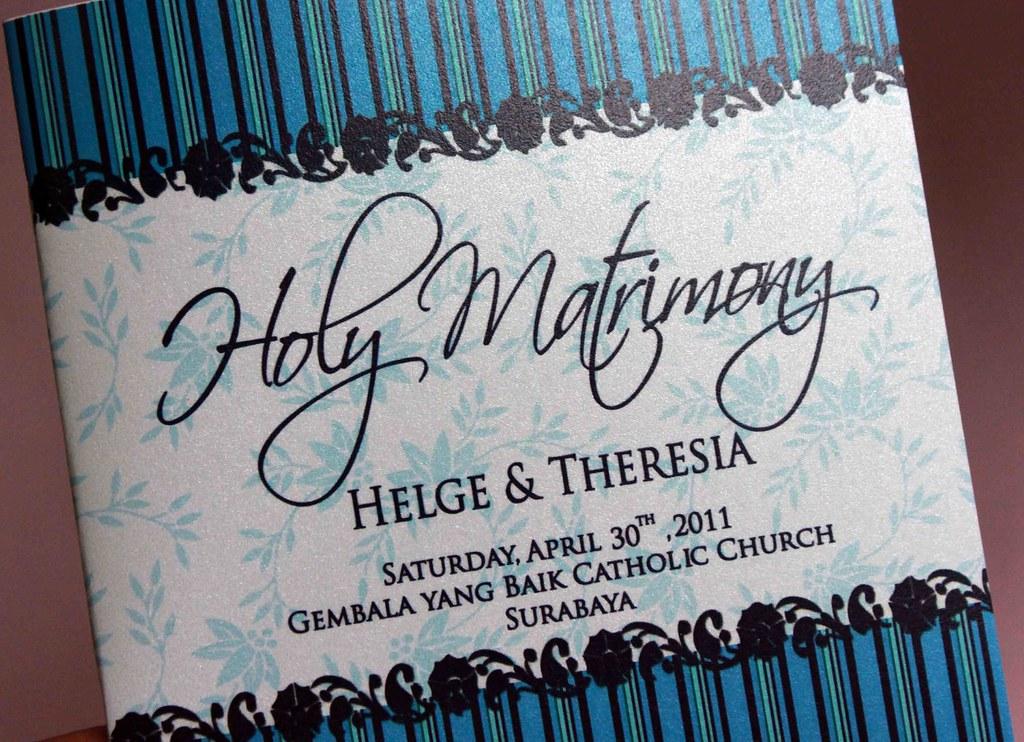 Buku Pernikahan Gereja Helge Theresia Buku Misa Pernik Flickr