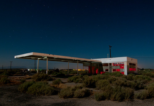 North Edwards Abandoned Gas Station Along Ca 58 In The