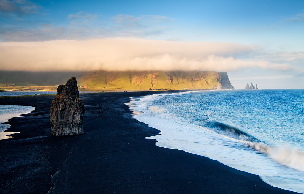 Iceland - Vik: Distant Fingers | A volcanic sandy beach ...
