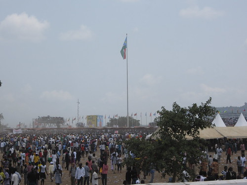 The South Sudan flag flies at the Dr. John Garang Mausoleum grounds in Jub | by United Nations Development Programme
