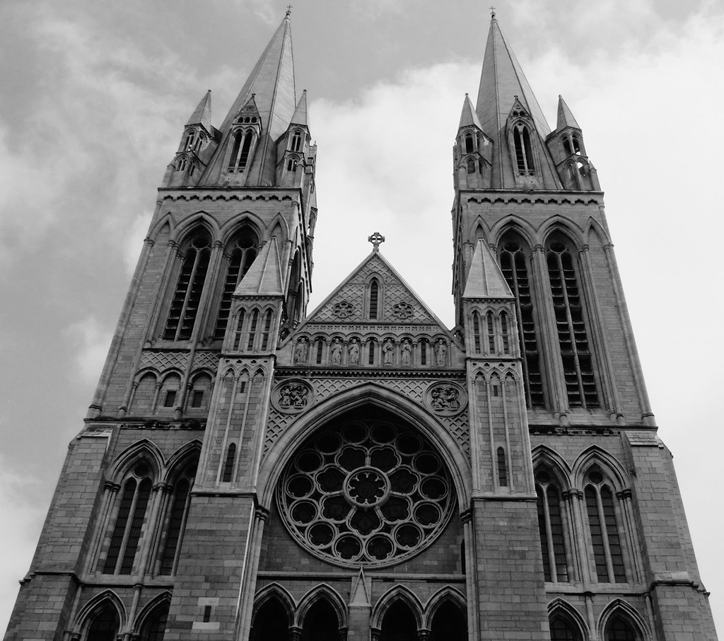 Haunted House The West Front Of Truro Cathedral In