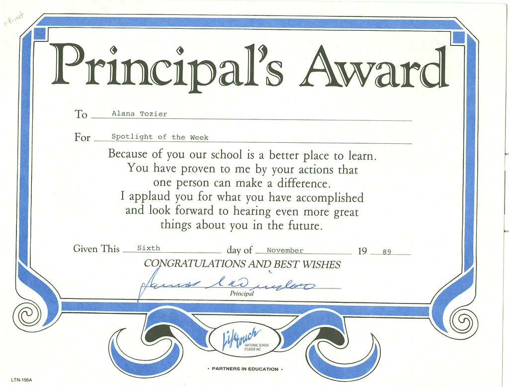 principal's award | Alana Post | Flickr