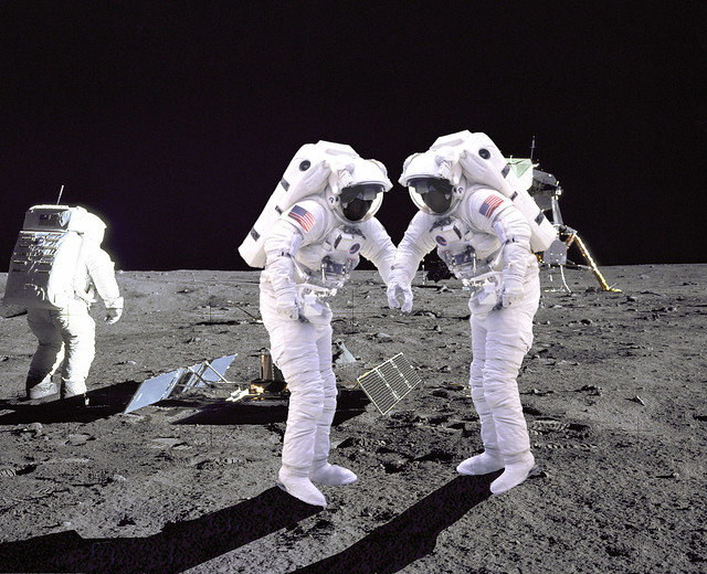 astronauts jumping on the moon - photo #29