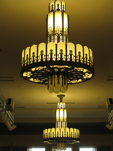 Art deco chandeliers myer emporium mural hall bourke st for Mural hall myer