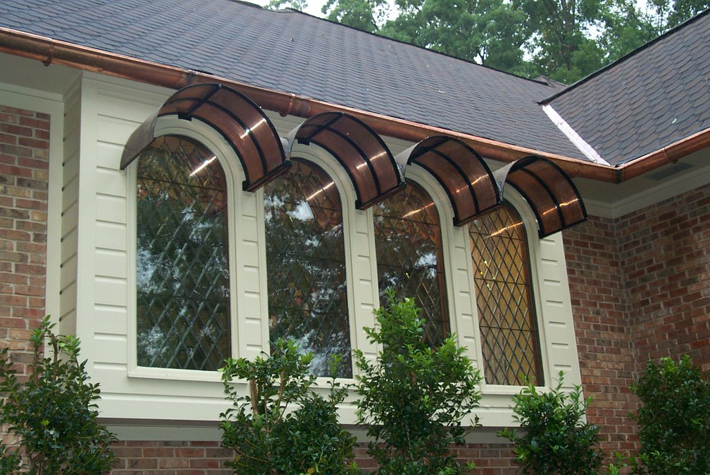 charming design faux androidtips awning copper awnings decoration front door interior co ideas window